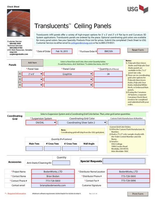 Translucents Ceiling Panels Check Sheet_3-31-14